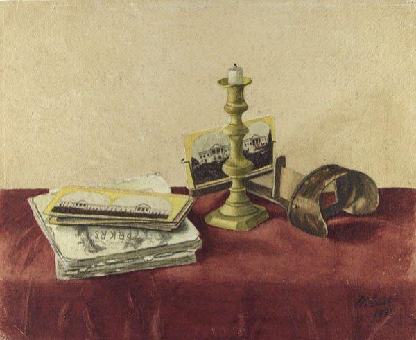11: M. EAST (American) Watercolor