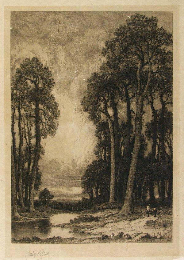 12: JOHN FULLWOOD (British) Etching