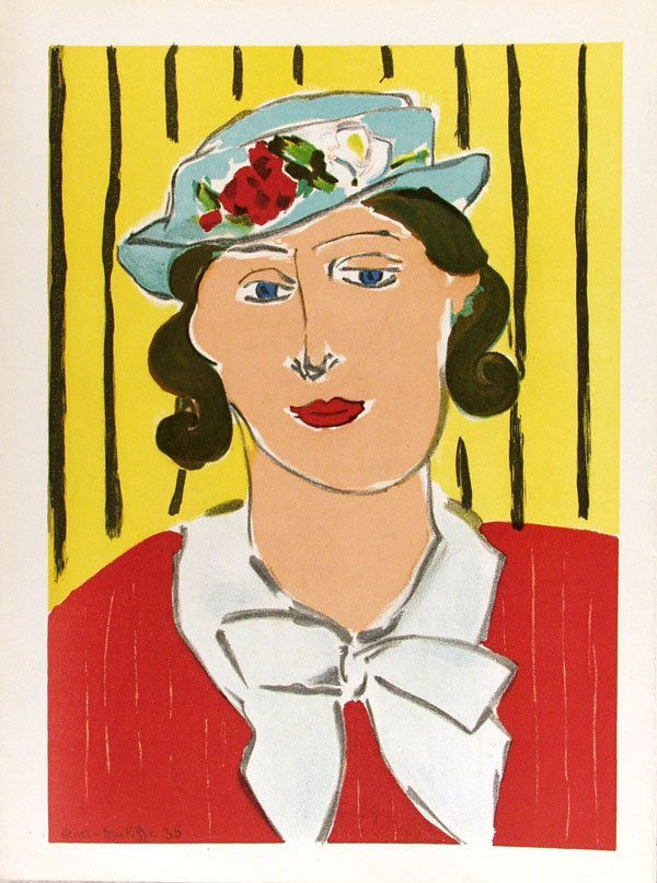 411: HENRI MATISSE (French) Color lithograph