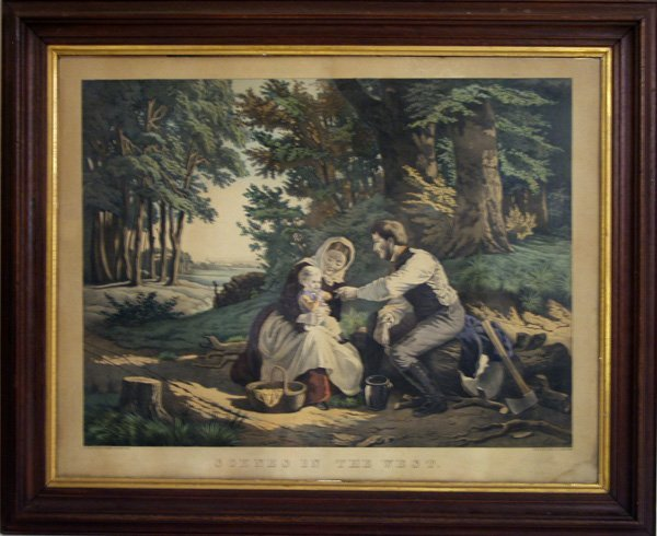 15: KIMMELL & FORSTER (American) Color lithograph