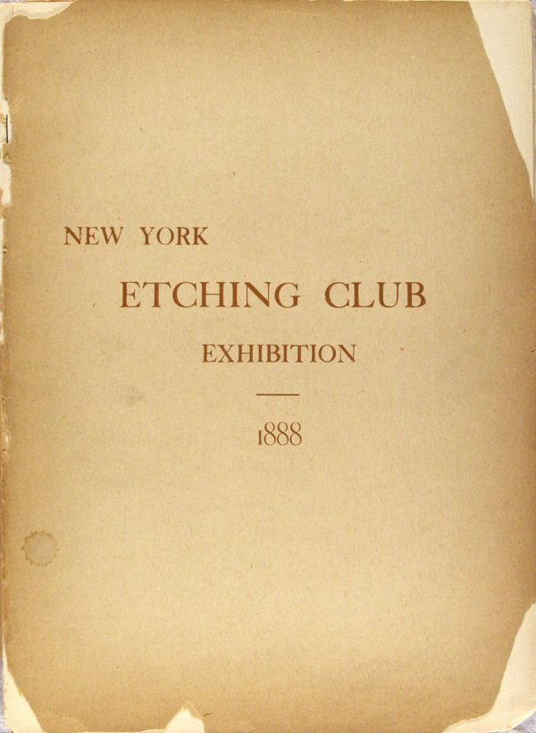 19: NEW YORK ETCHING CLUB (American) Etching