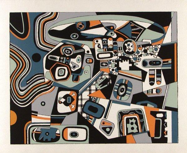 234: STEVE WHEELER (American) Color silkscreen