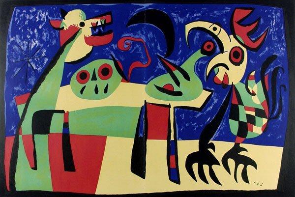 522: JOAN MIRO (Spanish) Color lithograph