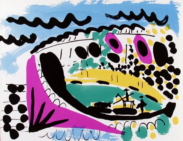 549: PABLO PICASSO [AFTER] (Spanish) Color lithograph