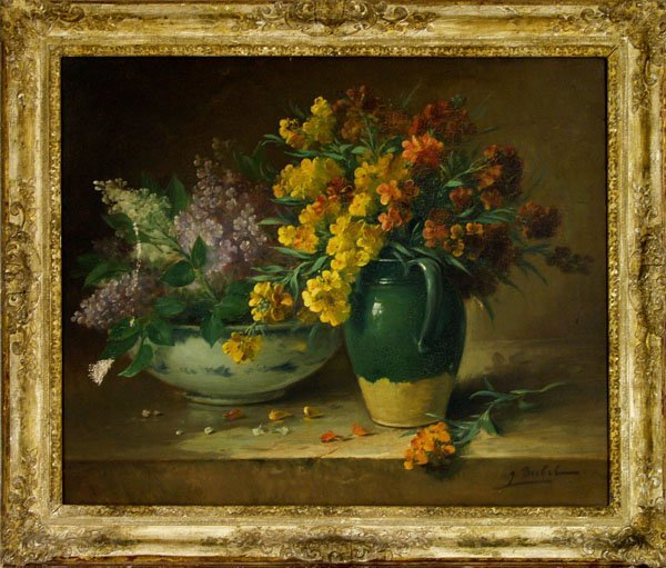 10: J. BUBEL (American?) Oil on canvas
