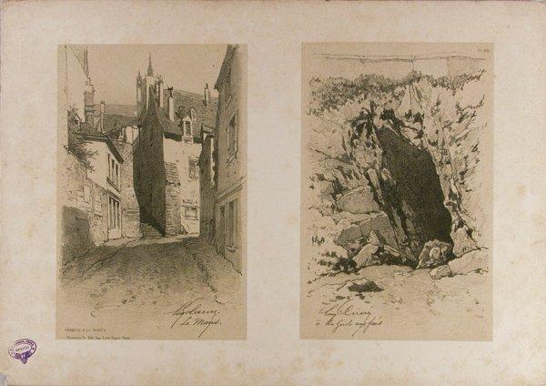 12: EUGENE CICERI (American) Tinted lithograph