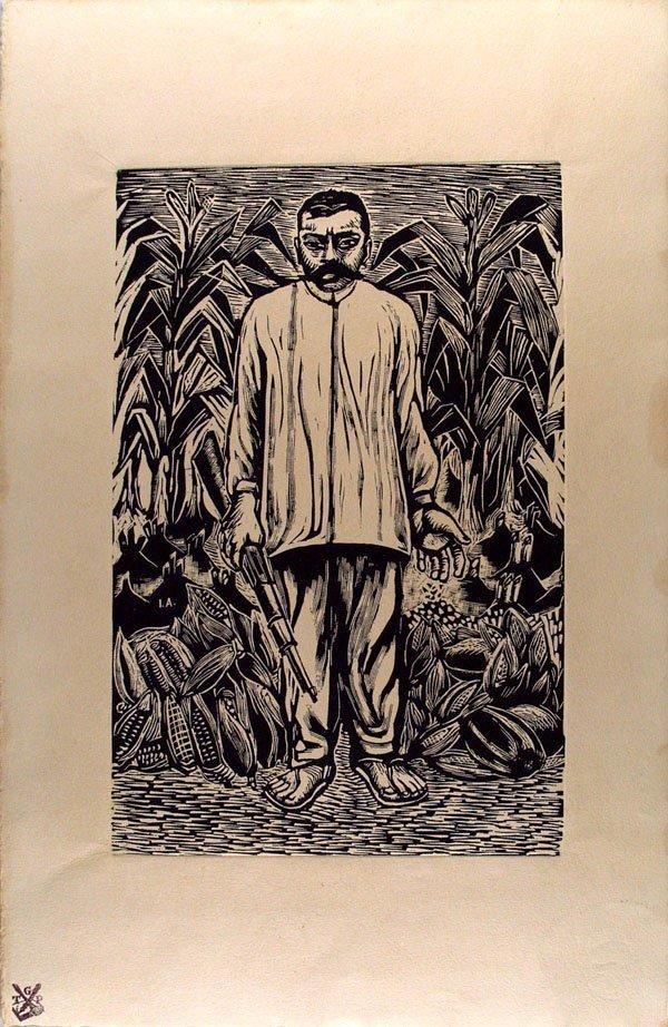 254: IGNACIO AGUIRRE (Mexican) Linoleum cut