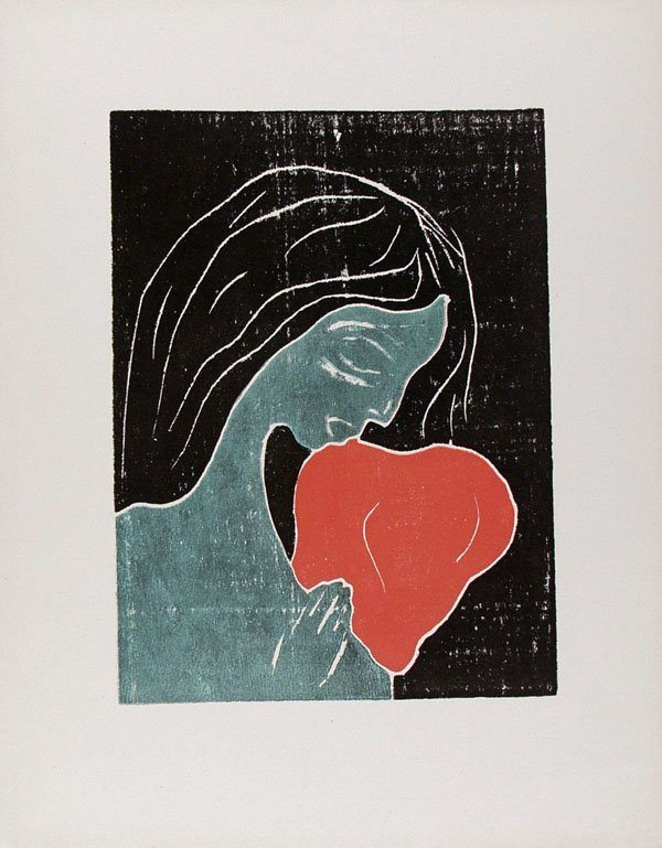 634: EDVARD MUNCH [AFTER] (Norwegian) Color woodcut