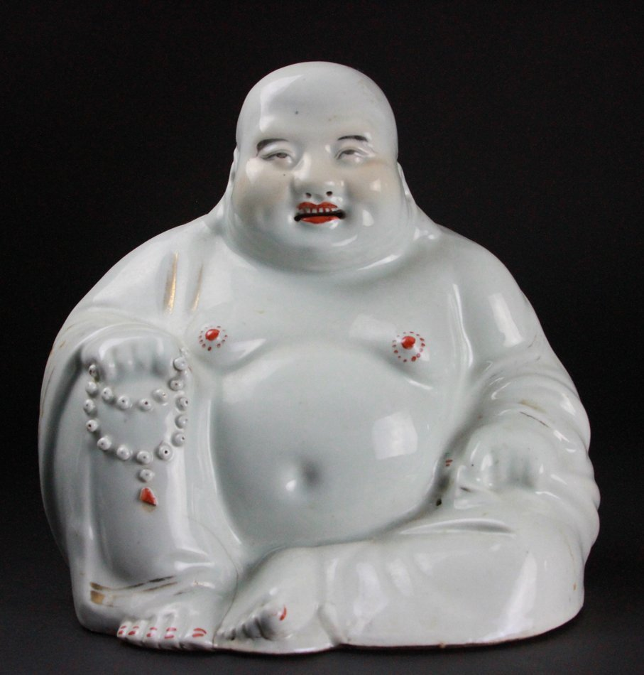 CHINESE PORCELAIN SMILEY BUDDHA