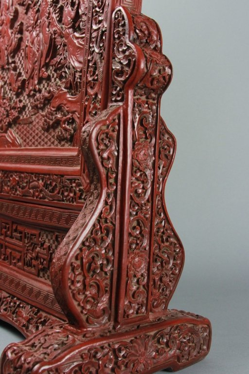 CHINESE CINNABAR SCREEN - 3