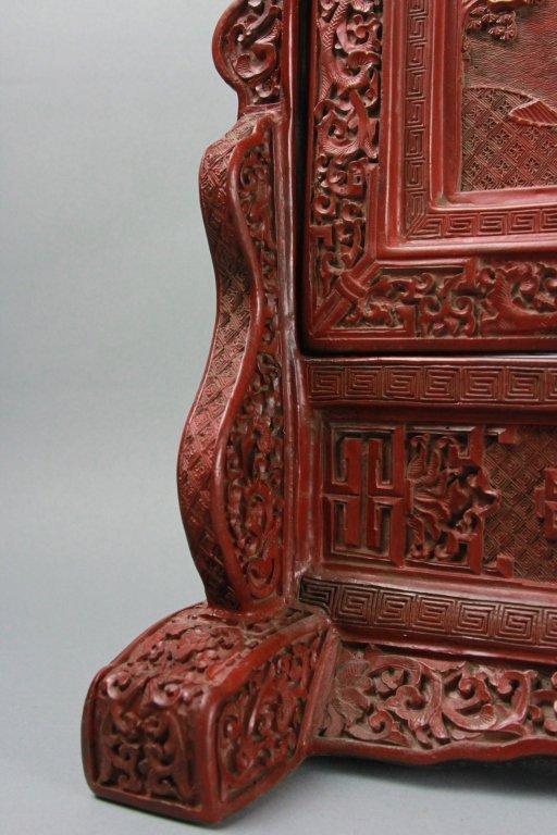 CHINESE CINNABAR SCREEN - 4