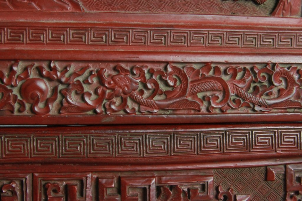 CHINESE CINNABAR SCREEN - 5