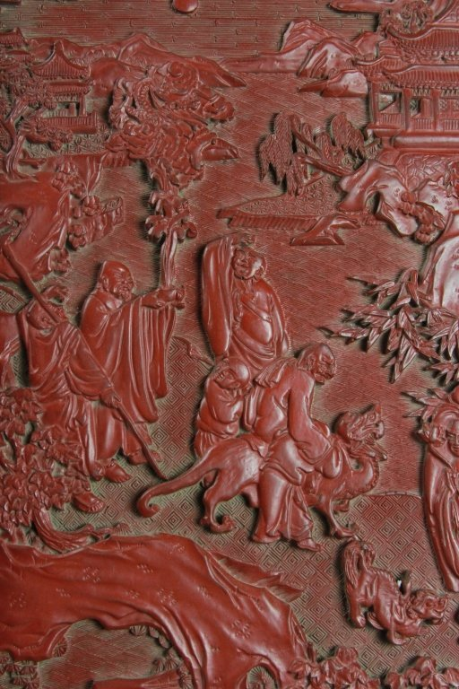 CHINESE CINNABAR SCREEN - 6