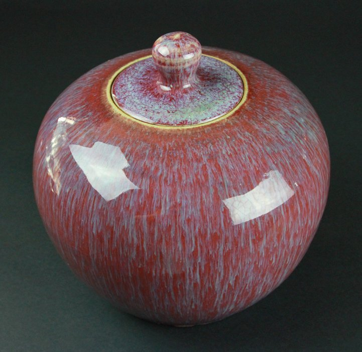 Chinese Red-Glazed Ware Jar With Cover - 2