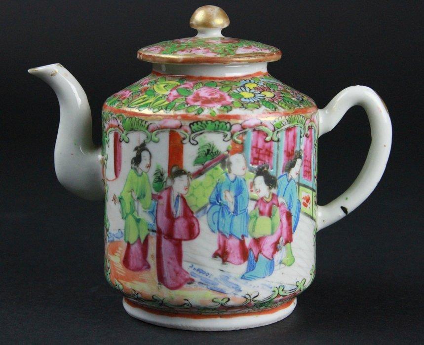 Chinese Famille Rose Tea Pot - 2