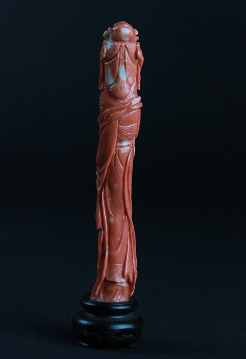 Two Carved Coral Lady Figures - 4
