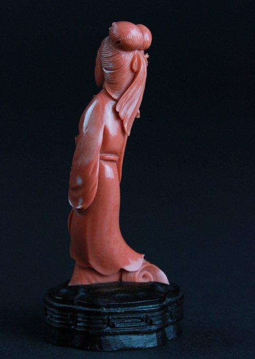 Two Carved Coral Lady Figures - 7