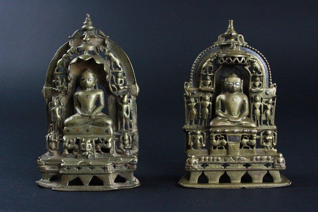 Pair Of Bronze Buddha