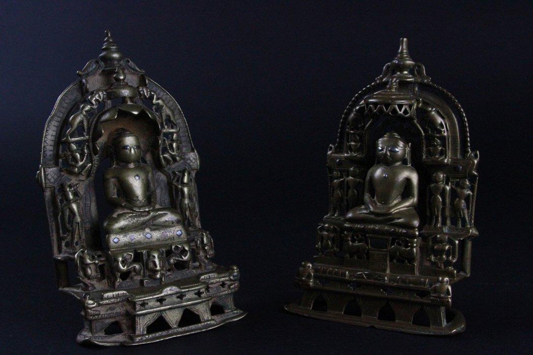 Pair Of Bronze Buddha - 2