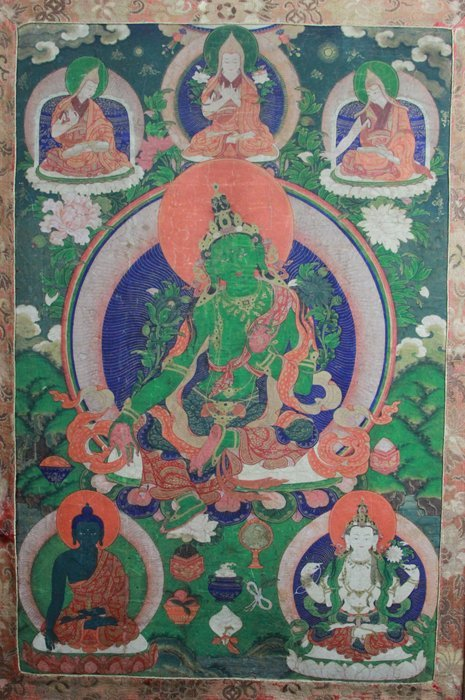 Antique Chinese Tibetan Tanka