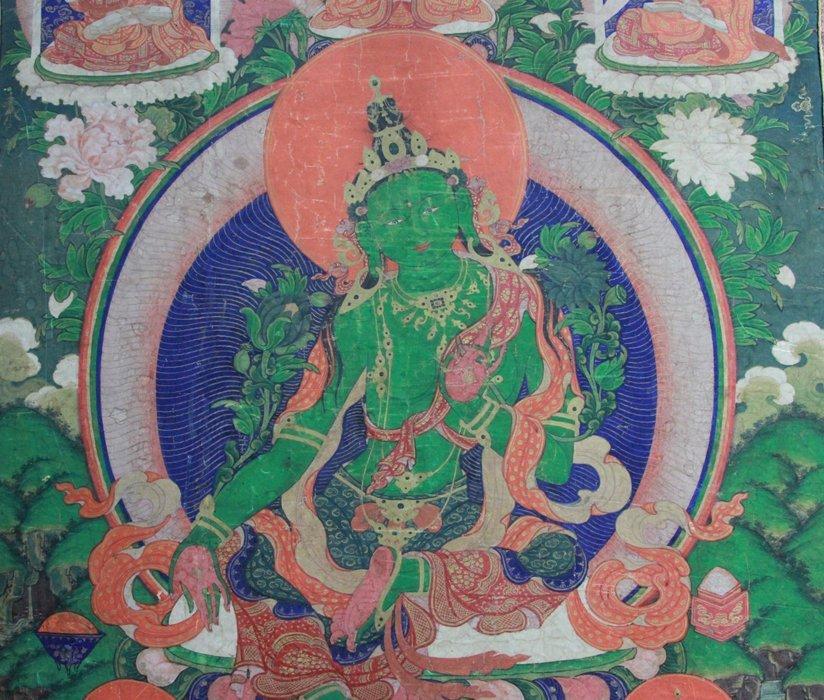 Antique Chinese Tibetan Tanka - 2