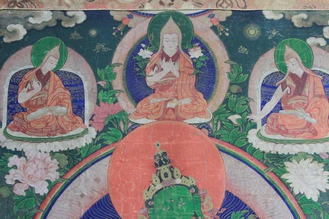 Antique Chinese Tibetan Tanka - 3