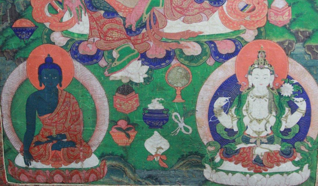 Antique Chinese Tibetan Tanka - 4