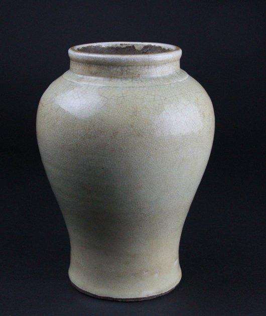 A  celadon glazed porcelain jar
