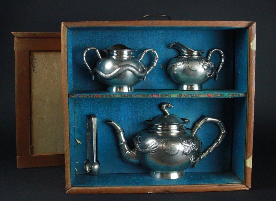 Chinese silver pots