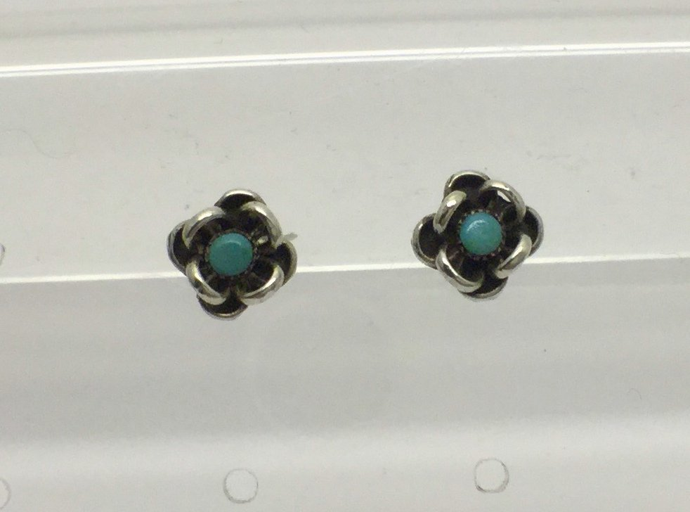 NAVAJO sterling silver turquoise earrings #6