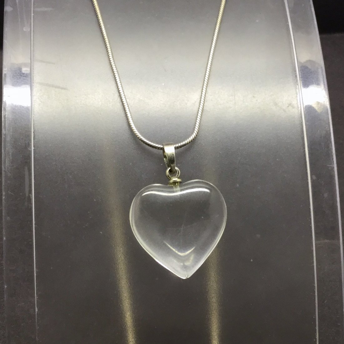 silpada sterling silver rock crystal heart necklace