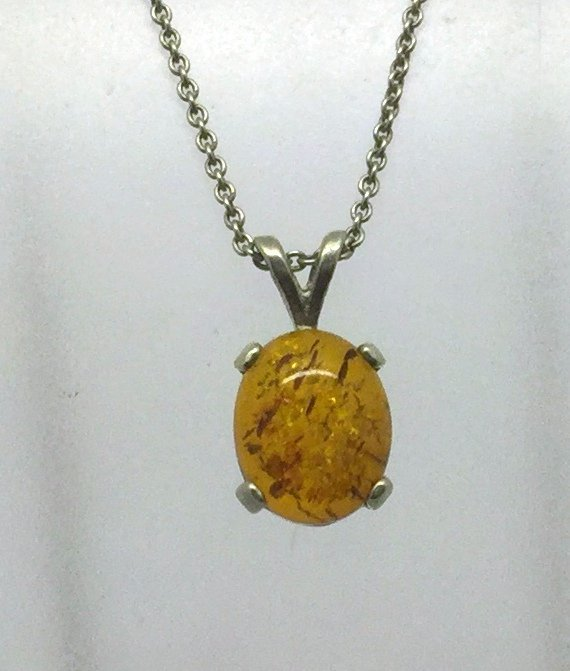sterling silver amber necklace style 18