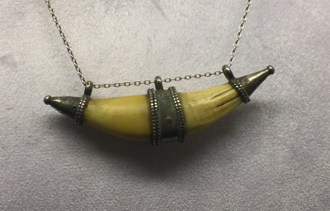 800 silver ivory tusk necklace # 103 - 3