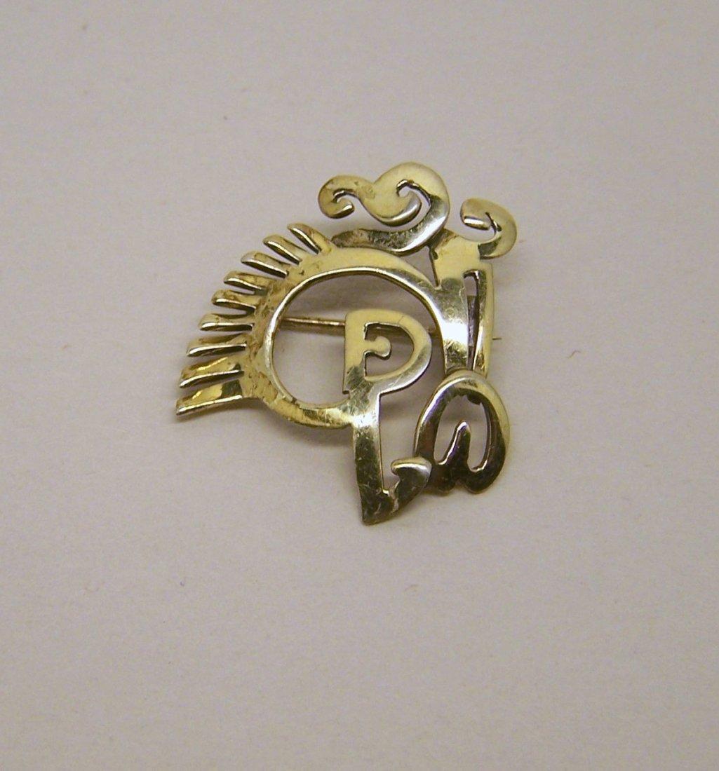 ERTE hand made sterling silver brooch