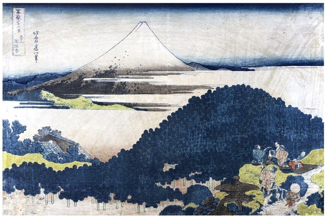 Japanese Woodblock Print Hokusai