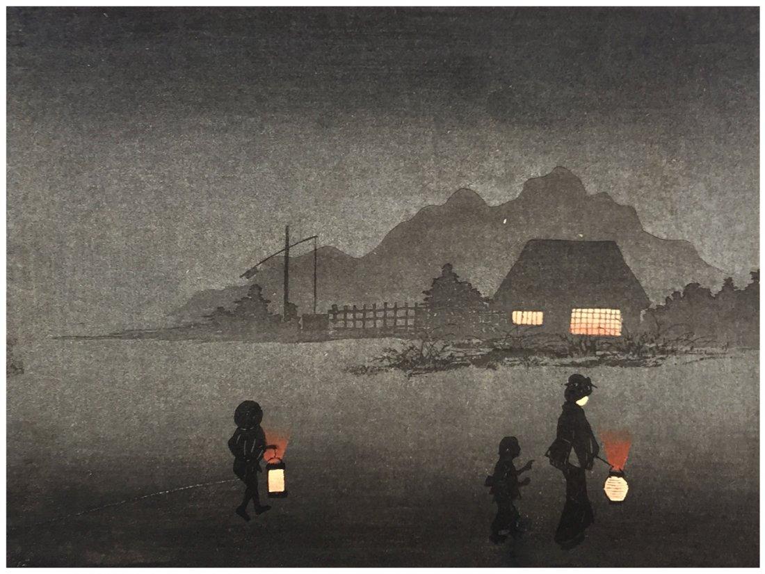 Japanese Woodblock Print  Hiroaki Takahashi (Shotei)