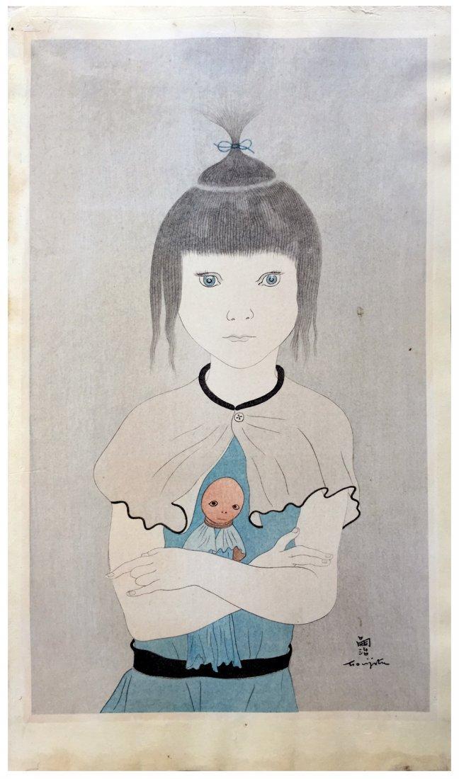 Japanese Woodblock Print Leonard Foujita