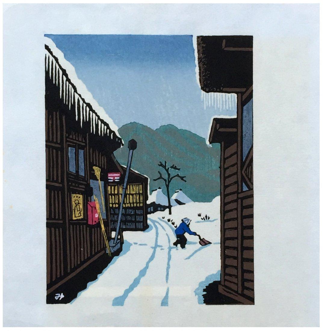 Japanese Woodblock Print Mistuhiro Unno