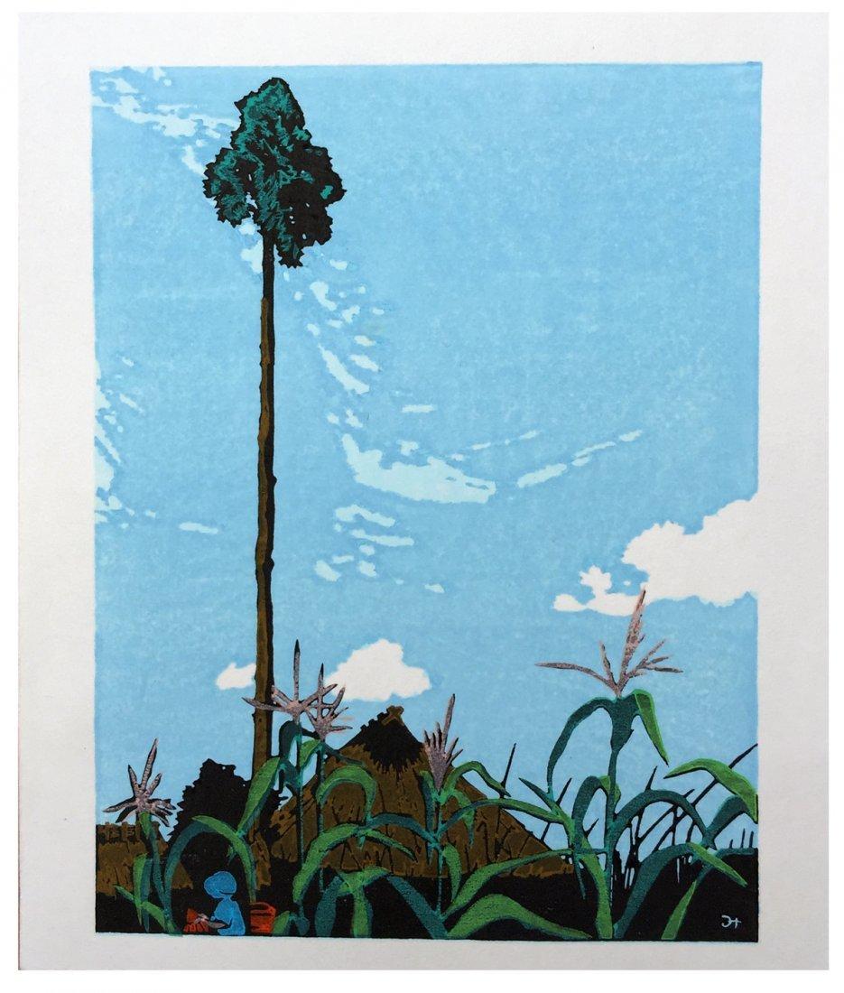 Japanese Woodblock Print Mitsuhiro Unno