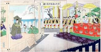 Japanese Woodblock Print Wanatabe Nobukazu