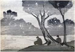 Japanese Woodblock Print Bror Julius Olsson Nordfelt