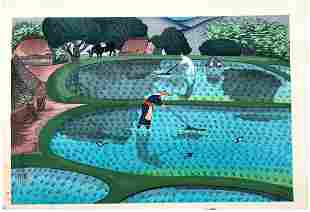 Japanese Woodblock Print Bakufu Ohno