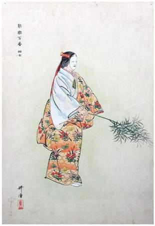 Japanese Woodblock Print Tsukioka Kogyo