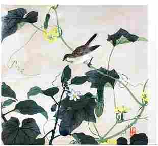 Japanese Woodblock Print Nagamachi Chikuseki