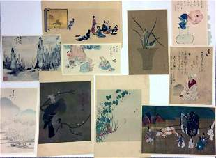 Japanese Woodblock Print Bundle of 10 Prints and