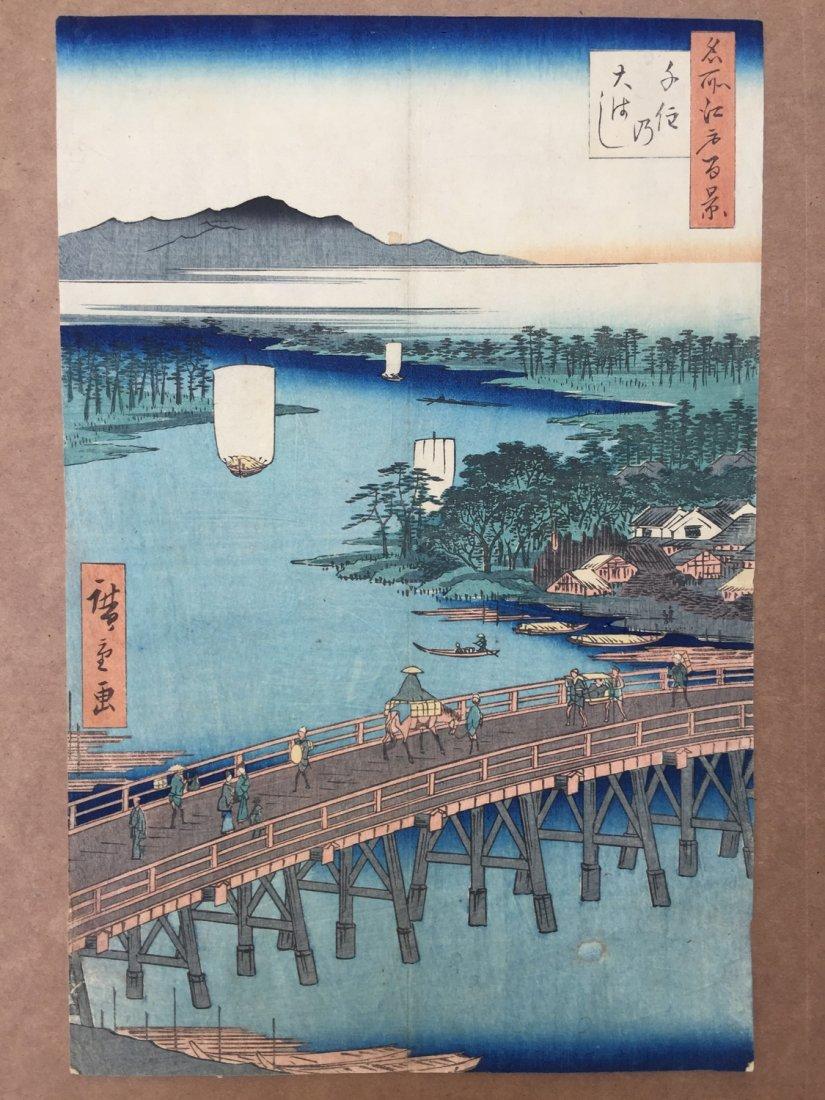 Japanese Woodblock Print Ando Hiroshige