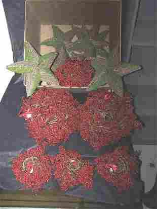 Moss Vine Stars & Red Berry Balls