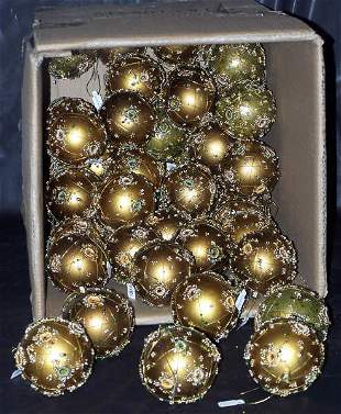 Gold & Bronze Wire Wrapped Balls, Qty 52