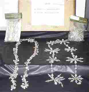 Clear Bead Garland & Snowflake Garland, OVER 40