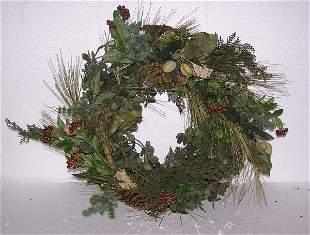 "Woodland Bounty Eucalyptus Wreath, Qty 2, 24"""